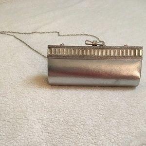 Sparkling Silver Clutch